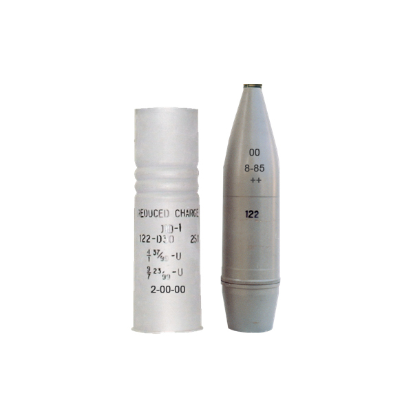 122 mm Round VOF-462U with Reduced Variable Charge and High Explosive Fragmentation Projectile OF-462 (HE/FRAG) For 122 mm Howitzers D-30 and 2S1