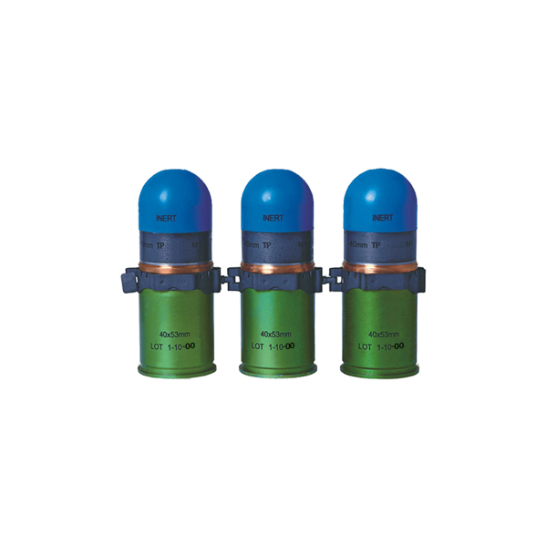 40x53 mm High-Velocity Target Practice Flash & Bang Grenade (TP), Linked For Automatic Grenade Launcher HK GMG